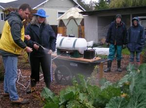 Applying Compost Tea